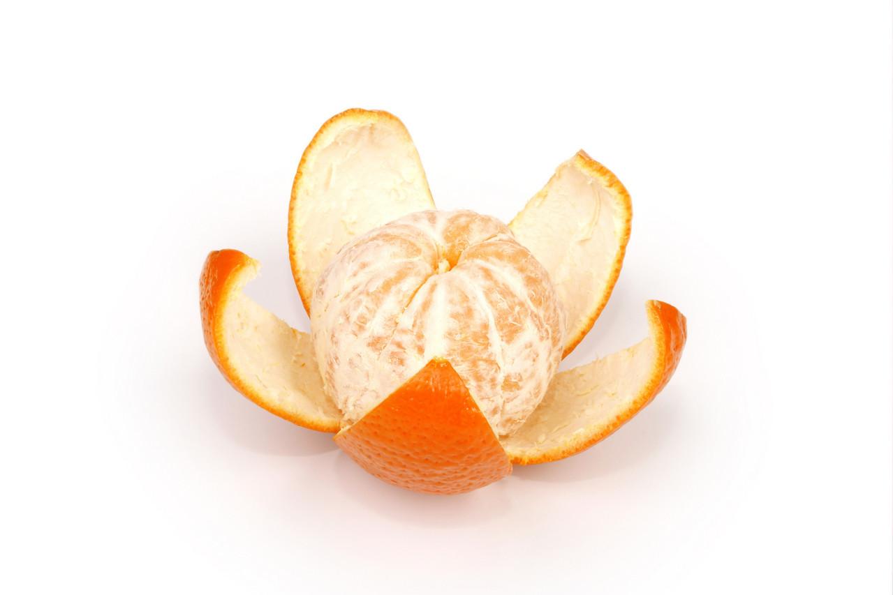 fruits ripe orange on white, flower