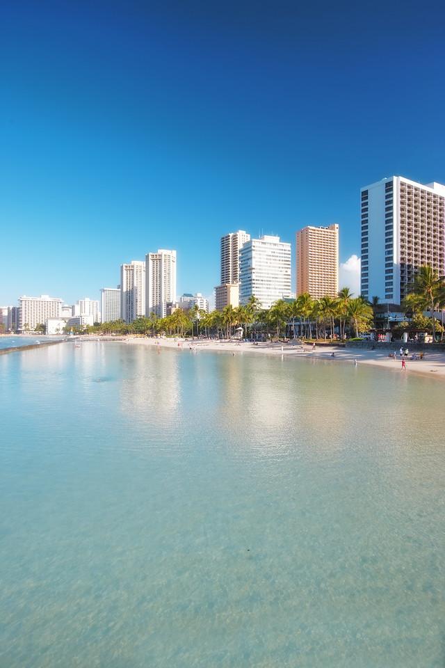 Waikiki Beach and skyline