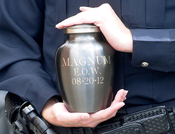 Magnum's urn is engraved with his End of Watch date.