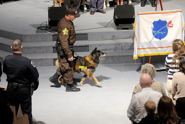 K-9 officers from around the country pay their respects.