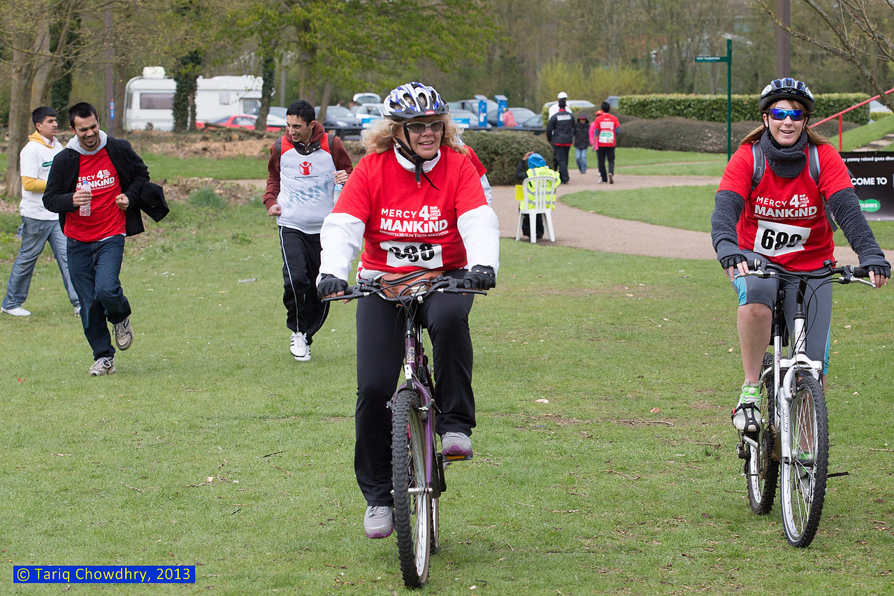 Ladies from the local community also joined in the bikeathon and throughly enjoyed and praised the event.