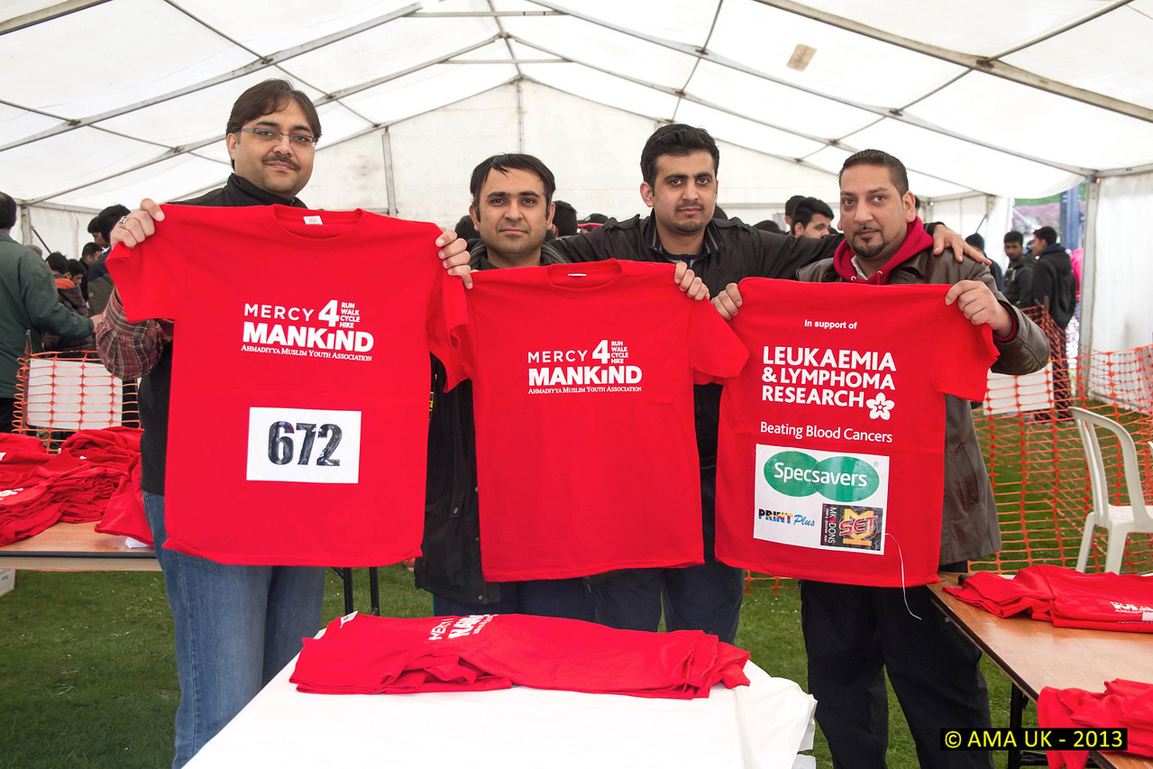 The T-shirts worn by most of the participants! In all, 26 UK charities were supported including the British Heart Foundation, Save the Children UK, Macmillan Cancer Support, RNIB, Great Ormond Street Hospital, Barnardo's and Humanity First.