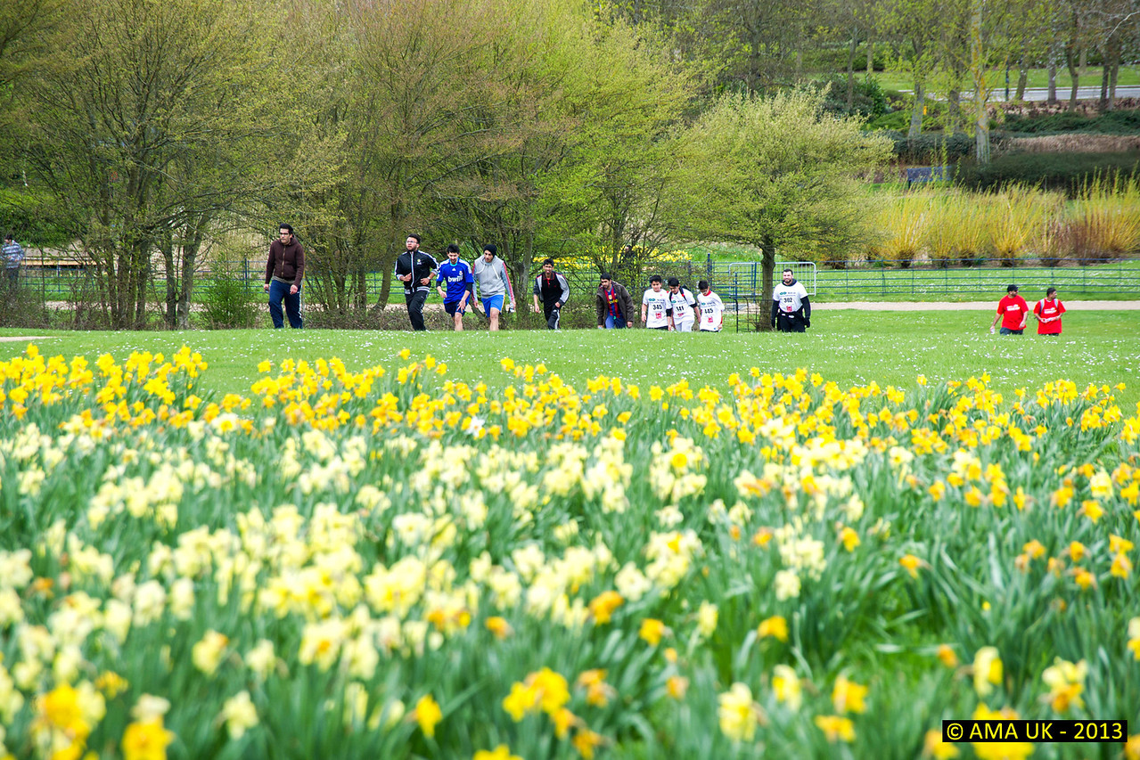 Close up of the walkers! Lots of greenery and flowers to add to the enjoyment.