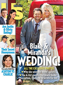 Robert Evans' Us Weekly Cover and feature from the wedding of Blake Shelton Miranda Lambert May 14th 2011