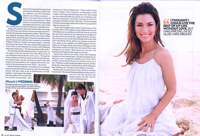 Shania Twains's Wedding images in Country People