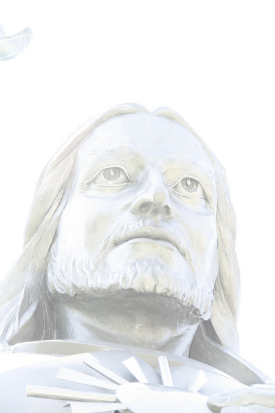 The rest of these pictures might have a smidge of PhotoShop applied to them, but this is straight out of the camera.  I intentionally over-exposed this 20 foot tall statue of Jesus.  It looks like a drawing or a photoshop filter.