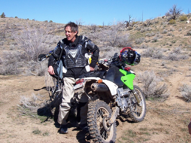 Taking a break in Hungry Valley, north of Reno. I'm knackered and need a haircut, but it's only half time.