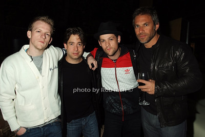 Brad Beckerman, Charlie Walk, Joel Madden, Josh Madden photo by Rob Rich © 2008 516-676-3939 robwayne1@aol.com