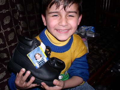 Another Wood's Academy donation and a happy Kabul kid.