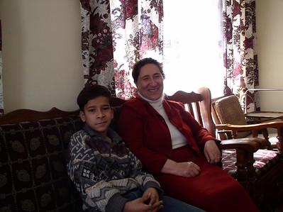 Pashtoon and her 13 year old son, Ali. We had a shoe distribution party at their house.
