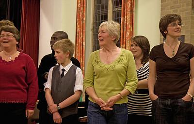 Singing at the Concert, 8th May 2010