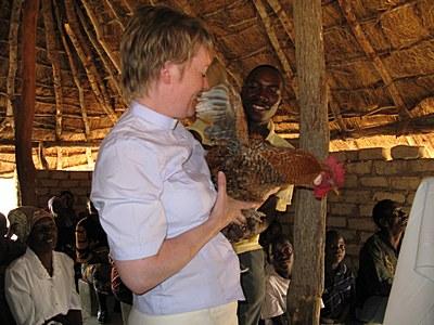 pauline_receives_gift_of_a_chicken_at_mukwela_church