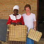 sylvia_accepts_gift_of_a_mat_at_namabondo