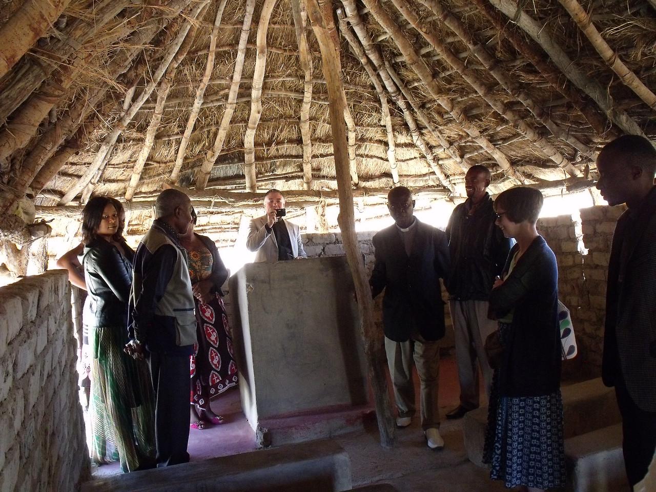Inside the Church at Mukwela