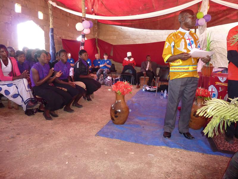 Rev Chilombo leading the Sunday Worship