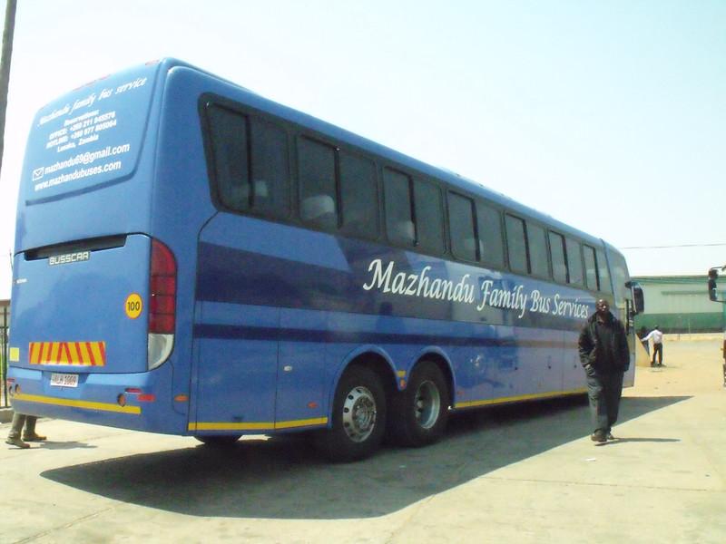 Our bus to Kalomo