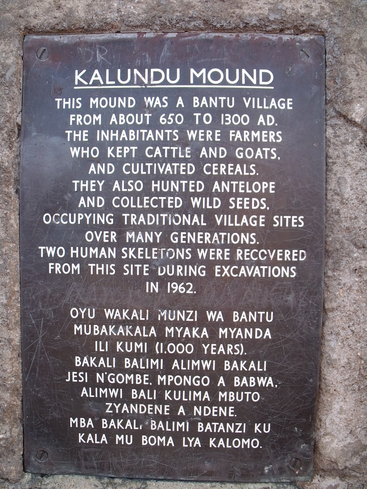 Monument on the road between Choma and Kalomo