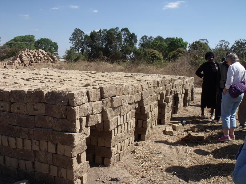 Bricks ready for firing