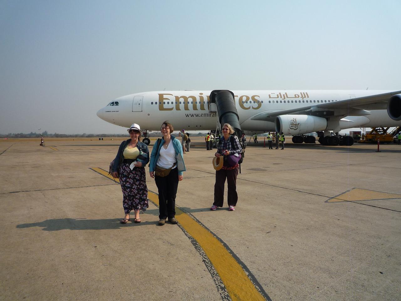 Landing at Lusaka