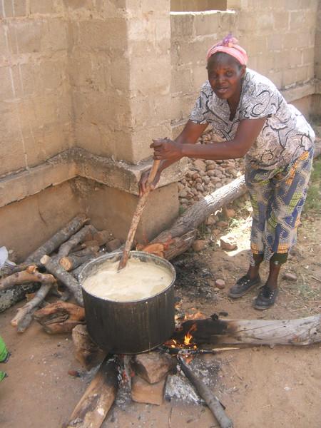 Preparing food for Sunday