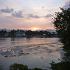 The river Kwai, lovely view at sunset from our guesthouse patio