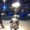 Bronze statues of the players