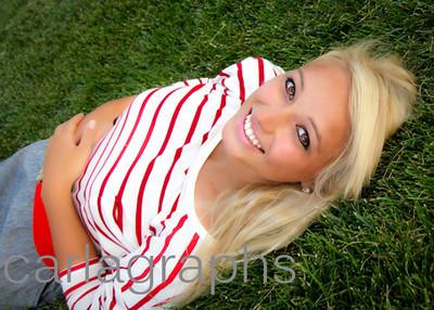 Tina Lying on Grass Half-
