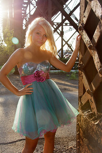 Tina Teal Dress in the Sun Serious-