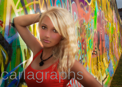 Tina Close Up on Graffiti Wall Soft Look-