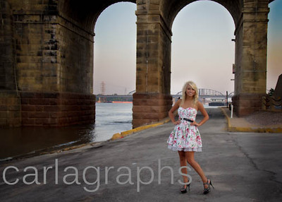 Tina in front of Eades Bridge-