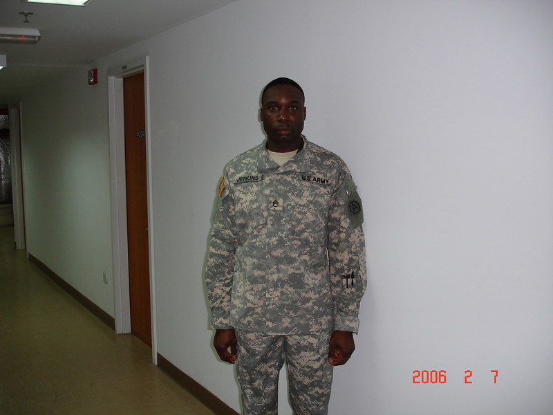 Cedric T. Jenkins, Montgomery Alumni Chapter, Army Reserves.<br /> photo was taken in 2005 when deployed at Camp Arifjan, Kuwait.
