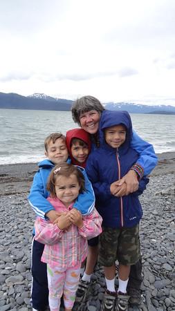 2012 Homer Spit.  The best four grandchildren on the planet.