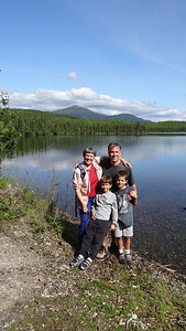 2012 Hiking the Engineer Lake trail with son Duke and grandsons Cameron and Connor