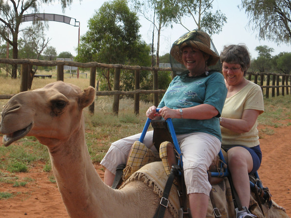 2009 January Riding a camel in Australia