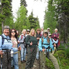 2012 Leading the ladies hiking group on the Juneau Falls traverse.