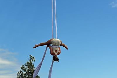 Luftakrobatik på hög höjd