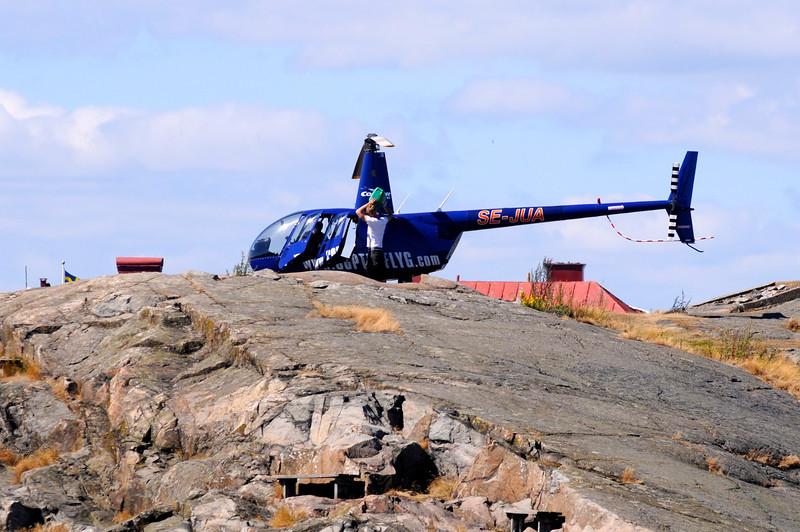 Helikopter på Stakholmen