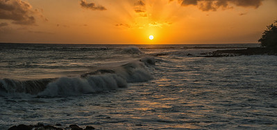 Poipu Sunset Surf