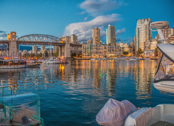 The view from Granville Island, Vancouver