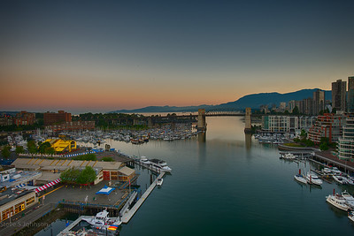 View from the Granville Island Bridge, Vancouver