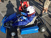this is Max's new-to-him kart. It's an Energy (italian) chassis with an 80cc Comer motor. Good for about 60 mph on the staights.