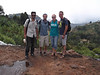 top of sipi falls with other volunteers