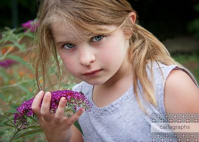 Kate with Flowers-