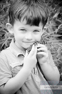 Nick with Flowers bw-3258