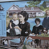 """Our People, Our Story"". Important mural celebrating Katikati's 125 years since Irish settlement. Features portraits of some of the people who contributed to the growth of the town."