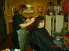 Dottie styling Mom's hair