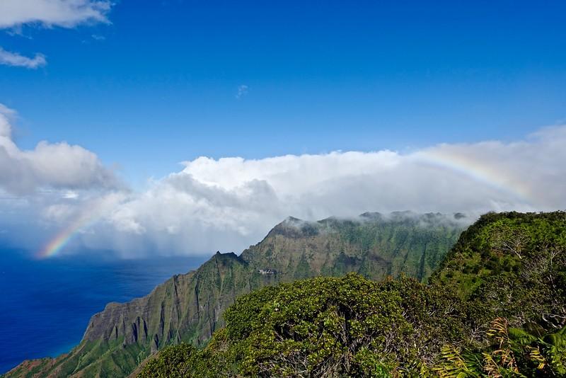 Rainbow view from Waimea Canyon