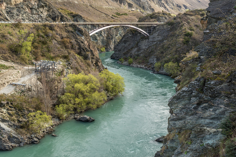 Kawarau River from the bungee jumping site