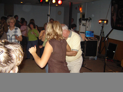 Allie and Dad out on the Dance Floor  Allie had to jutterbug with dad that night