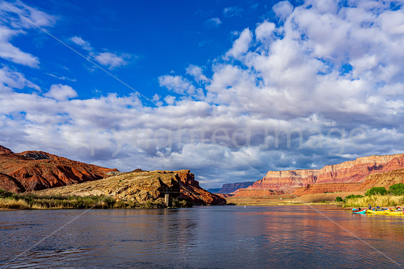 Lee's Ferry on the Colorado River in  AZ